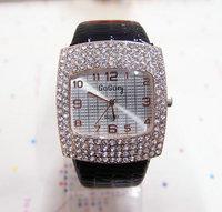 Wholesale Leather Strape Gogoey Brand 4 Row Crystal Watch Women Fashion Dress Quartz Watch Ladies GO070  AN