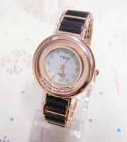 Fashion Rose Gold Tone Watch Women Ladies Crystal Quartz Dress Watch Wristwatches TW030 AN