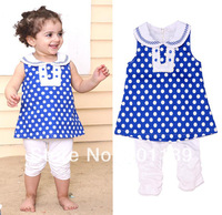 New arrival wholesale top quality 100% cotton fashion summer baby girl's pants+tshirt+vest 3pcs set toddler's clothing suit