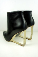Alex sara mmm 2013 new arrival boots fashion transparent with genuine leather boots women's shoes
