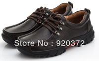 2014newPrevent slippery wear-resisting outsole leather shoes business outdoor leisure mountaineering men's shoes