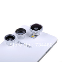 Magnetic 4-in-1 Wide Angle + Marco Micro Lens + Fisheye + Telephoto Lens Photo Kit For iphone 5 5G 5S 5C 4S 4 4G iPad 2/3/4/Mini