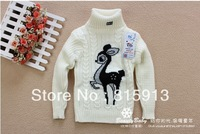 HOT 1 pcs autumn winter children's kids clothing for baby girl's fashion Knitted bottoming shirts/sweaters