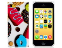 3D Milk Chocolate Design Silicone Case for iPhone 5C  LIP-4281D