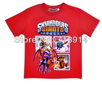 Free Shipping new kids boys baby girls cotton cartoon t shirt Skylanders Cloud Patrol T-shirt,cartoon boys short sleeve t shirts