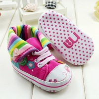 Free Shipping Girls Shoes Wholesale 36pairs/lot Baby Shoes for First Walkers, Soft Sole Anti-Skidding Sneakers for Bebe