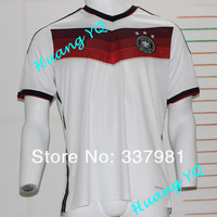 2014 World Cup New Germany Home White fooyball shirts Top Thai Quality  14 Germany White soccer jersey Free Shipping