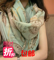 2013 scarf autumn and winter female fluid scarf dual large cape ultra long silk scarf  fre shipping