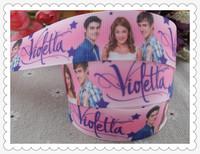 2013 new arrival 1'' 25mm violetta printed grosgrain ribbon princess ribbon cartoon ribbon 10 yards tape