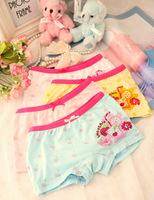 (6pcs/lot) Children Underwear Free Shipping Colorful underwear baby girl lightsome soft kids pants 100% cotton