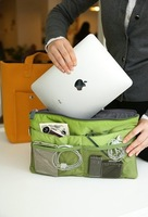 Women HOT SALE 5 colors Travel Insert Handbag Organiser Organizer Bags Free shipping For Ipad 271