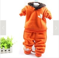 free shipping high quality 2013 winter  clothing sets sports suit with hat thickness baby clothes