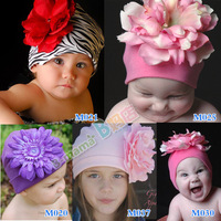 flower child hat knitted baby hat pocket Fashion double layer cotton 100% fairy style hat