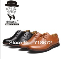 2013 new, 100% natural leather, apartments, men, business casual shoes, wedding shoes, men leather shoes, free shipping