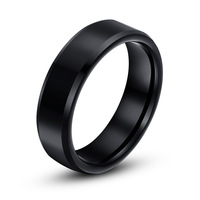 Black Mens Ring Tungsten Carbide Wedding Band Bridal Jewelry Free Shipping G&S079