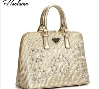 Now Brand Women's  Handbags  messenger  Bag  Rhinestone  Handbag  Silver  Color   Fashion  Noble High  Quality  Bags