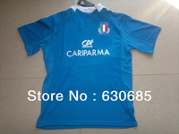 New arrival 13/14 season Italy home Blue best quality fans version Rugby Shirt, Italy Rugby football jersey