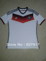 The Global Free shipping 2014 World Cup Germany white Leaked players jersey Top thai quality jersey Football suit