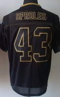 New Orleans #43 Darren Sproles American Football Elite Black Lights Out Jerseys From China Free Shipping Size 40-56 Sewn Logos
