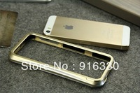 15pieces/lot For iphone 5/5s for apple 5/5s phone bumper protective case two-color metal push pull mobile phone case