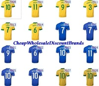 wholesale country brazil brasil national soccer jersey league Player thai Football uniform home away world cup champion shirt