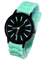 Brief fashion candy color strap jelly item sports active cute watch for women men child hour gift