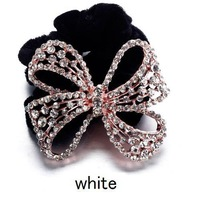 New Wholesale Cheap Beautiful Crystal Rhinestone Knot Luxury Multicolor Shiny Women Hairwear Wedding Hair Accessory