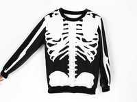 White Skeleton GU  women's 3D hoodies Sweatshirt Pullover Ourwear Punk style for Lady's