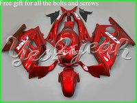 Complete fairing kit fits for Honda CBR600F5 05 06 CBR600 F5 05 06 2005 2006 CBR 600 F5 05 06 with tank cover Dark Red Black