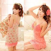 New 2013 Women's Hot Sexy Lingerie Lace Net Yarn Spaghetti straps Nightdress 16006 Z