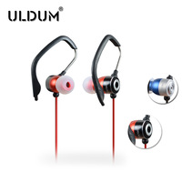 Sports running uldum type headset in ear earphones subwoofer speaker mobile phone wire ear earphones