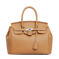 2014 hot sell bag new designer quality leather lock handbag fromal business office lady shoulder women brand generous freeship
