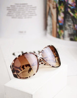 Hot Sale 2013 New Fashion Round Black Women Sunglasses Leopard Vintage Ladies Sunglasses brand designer 2013