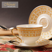 8-Ounce Cool Mosaic bone china coffee cup and saucer d'Angleterre black tea cup luxury quality
