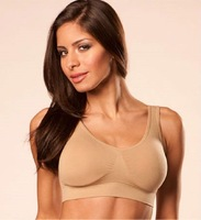 Women's Sleep and Leisure Bra with Removable Pads Bra Top SS-W06 Nude