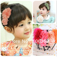 Flower Headband Baby Hair Hoop Hair Accessories Kid Headwear Children Hair Clasp Korean Style Hairbands 10pcs HYS27