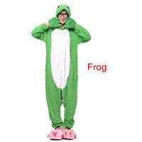 New Hot  sale Coral velvet pajamas cartoon animal piece pajamas Autumn and winter Frog Adult nightwear