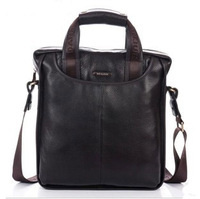 2013 First layer cow leather material commercial handbag messenger bag genuine leather men's bags male bag 179-3