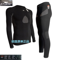 Autumn and winter clothing ride crane perspicuousness fast drying compressed clothing tight-fitting sports set long-sleeve