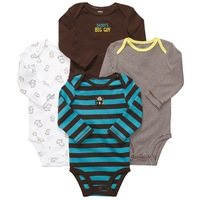 2013New,  4pcs/lot, Original Carter's Baby Boys Long Sleeve Bodysuit,  4 Different Models, Freeshipping