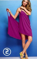 2014 new women solid color white beach dress swim casual wear sexy beach tunic