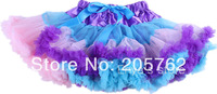 fashion colorful baby girl fluffy chiffon purple mix color rainbow pettiskirt for 2-8yrs girls free shipping