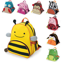 Children's lovely schoolbag preschool and kindergarten children canvas double shoulder cartoon small bag