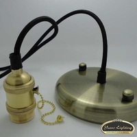 2014 Hot sale Vintage edison pendant lampe diy accessories E27 copper lamp holder+wire+ceiling base,Free Shipping