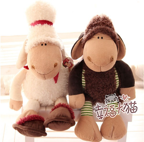 55cm- large -NICI sheep airline stewardess cartoon plush toys sheep pilot dolls nici toy Gifts Free shipping(China (Mainland))