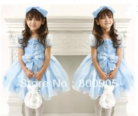 4 pces/lot Children/kids dress girls  gilr summer bow dresses  XX