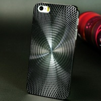 Case for iPhone 5/5s 7 colors Hard Case with Mesh Back Cover Plastic Frame