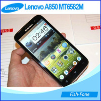 DHL  free shipping Original Lenovo A850 phone MTK6582 Quad Core 5.5 inch IPS Android 4.2 GPS 3G Smart phone