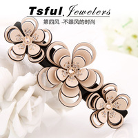 Tsful acetate rhinestone flower clip hairpin small fresh steel clip hair accessory clip