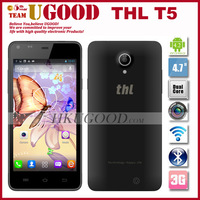 Original THL T5 Android Mobile Phone MTK6572 Dual Core Smartphone 512MB RAM 4GB ROM 4.7 Inch QHD 5.0MP Cell Phones Russian